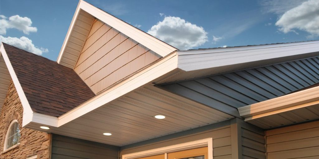 Picture of Eavestrough Soffit with with cloud